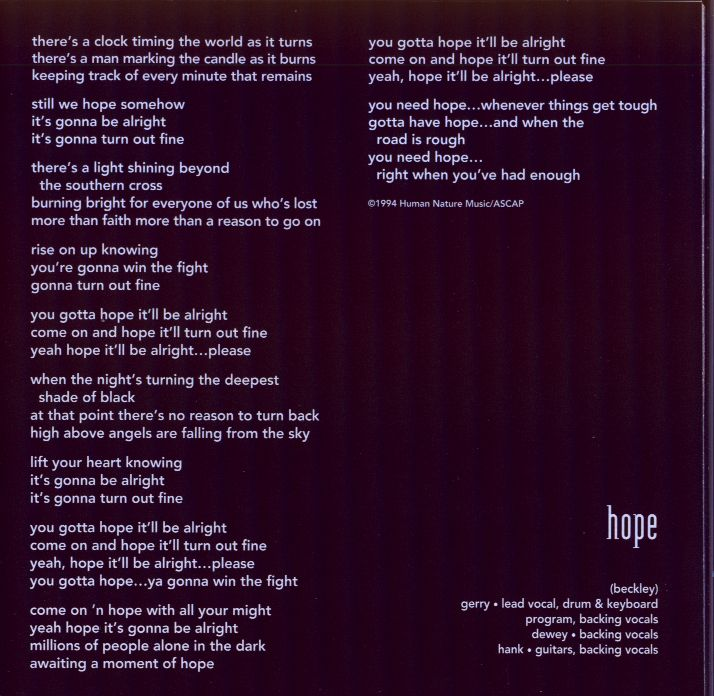 Hope (lyrics)
