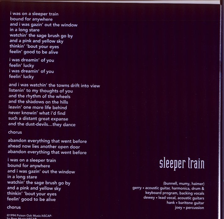 Sleeper Train (lyrics)