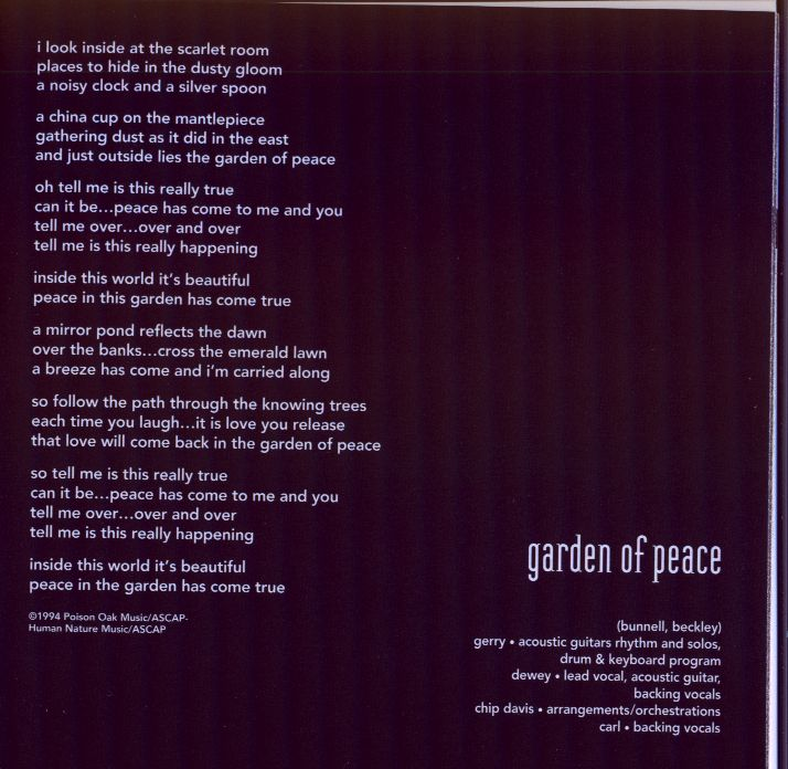 Garden of Peace (lyrics)