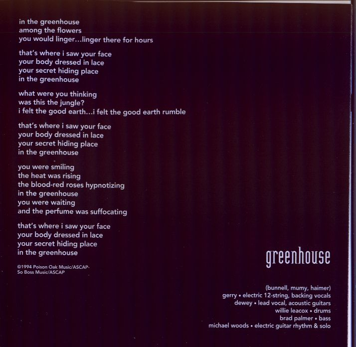 Greenhouse (lyrics)